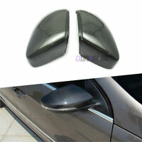 Pair Carbon Fiber Rearview Wing Mirror Cover for VW Jetta Beetle CC EOS Passat