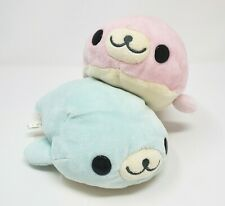 "7 "" San-X Mamegoma Soragoma Pink & Blau Baby Dichtung Japan Plüschtier Spielzeug"