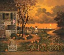 """Charles Wysocki """" Supper Call """"  CANVAS  # 19/150 1988 Mint W/Cert Very Rare"""