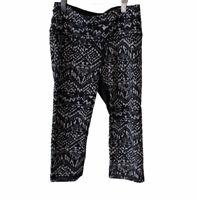 Victoria's Secret VSX Sport Black White Cropped Leggings Yoga Pants - Size S