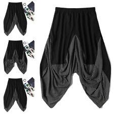 Mens Casual Baggy Harem Trousers Ali Baba Aladdin Baggy Yoga Hippy Long Trousers
