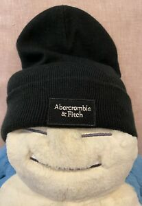 Abercrombie & Fitch Black Beanie Cap Hat New With Tags