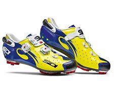 SIDI Drako Carbon SRS MTB Shoes - Yellow Fluo/Blue