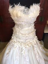 Gorgeous Ines di Santo Wedding Dress (with REAL feathers)
