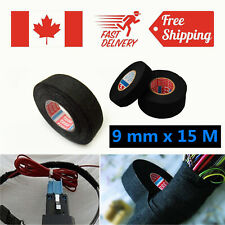 9mm x 15M Car Auto Repair Adhesive Cloth Fabric Tape Cable Looms Wiring Harness
