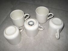 5 Vintage CASTLE UNION LINE Shipping Naval Ceramic Expresso Coffee Tea Cup Mug