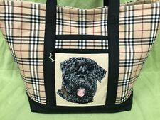 Beautiful Custom Embroidered Black Russian Terrier Tote