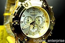 Mens Invicta Reserve Subaqua Specialty Swiss High Polish Gold Plated Watch New
