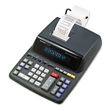 Sharp EL2196BL Two-Color Printing Calculator Black/Red Print 3.7 Lines/Sec