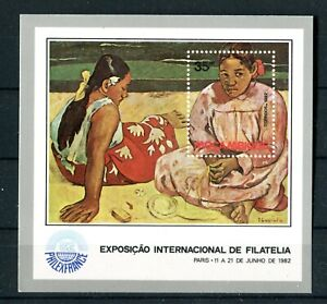 MOZAMBIQUE 1982 S/S Art painting MNH (A-1049)