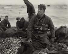 "US Soldiers recover dead after the D-Day Invasion 8""x 10"" World War II Photo 526"