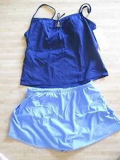 NEW MAGICSUIT MIRACLESUIT TANKINI SWIMSUIT Size 14 SKIRTED BOTTOMS Blue Navy