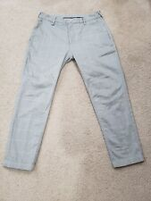 Zara Man Gray White Plaid zipper fly Trousers Slacks Pants Size 29