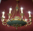 """EMPIRE GOLD CHANDELIER GREEN CEILING LAMP LIGHTS HALL STYLISH Ø 28"""""""