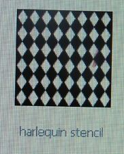 STENCIL Harlequin Diamond Border Design Art Stencil Quilt Paint New #127