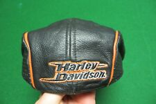 ALL LEATHER HARLEY DAVIDSON MOTOR CYCLE BIKER SMALL HAT