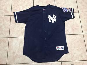 MLB New York Yankees Blue Majestic Jersey Size M Mens