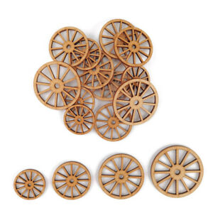 Old Coach cart Wheel MDF Craft Shapes Wooden Blank Gift Tags Decoration laser