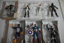 MARVEL LEGENDS CAPTAIN AMERICA RED SKULL SET OF 7 FIGURES LOOSE MINT