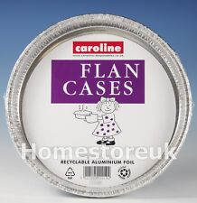 45 ALUMINIUM TIN FOIL BAKING PIE FLAN CASE DISH CAKE PLATE DISPOSABLE PARTY 1052