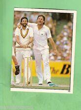 1983 SCANLENS CRICKET STICKER #19  IAN BOTHAM & MILLER, ENGLAND