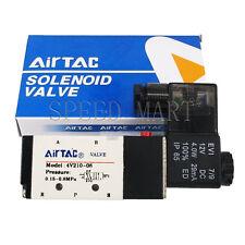 """4V210-08 DC 12V Solenoid Electric Pneumatic Air Valve 5 Port 2 Position 1/4""""BSPT"""