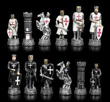piezas de Ajedrez juego - Cruzado Negro vs. BLANCO - Fantasía Caballero