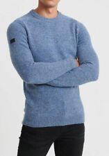 Superdry Harlo Crew Sweater, Jumper, Knitwear, Dust Blue Twist, Size Medium