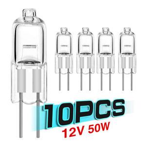 10Pcs G4 Halogen Capsule Light Bulbs Replace LED Lamps 12V 5W-50W Energy Saving