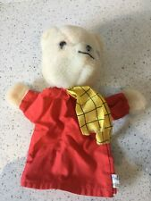 Vintage Rupert The Bear Hand Puppet Plush Soft Toy Pedigree 10 Inch