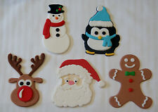 CHRISTMAS EDIBLE 10CM CHARACTERS BULK PACK X 5 (ONE OF EACH) - *UNBELIEVABLE*