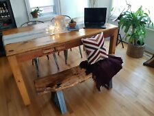 Patio Bench | Garden Bench | Plant Stand | Deck Bench | Rustic Live Edge Bench