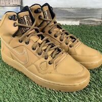 UK6 Nike 'Son Of Force' Wheat / Brown High Top Trainers - Air 1 - EU40