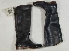 NEW FRYE (77561) DORADO RIDING Women's Dark Brown Leather Boots  Size 5.5 $458