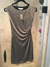 NWT Ann Taylor Loft Gold Shimmer Holiday Christmas  Side Shirred Dress Size XXSP