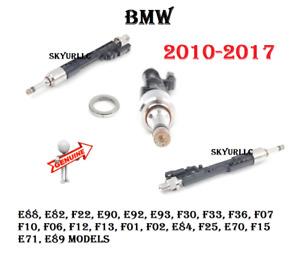 Fuel Hi Pressure Injector W/Clip For BMW E90 F01 F30 F10 F07 F06 F12 X5 GENUINE