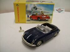 Porsche 356 B Carrera 2 Cabrio, Clockwork, 1962,darkblue, Huki-Replica 1:25, OVP
