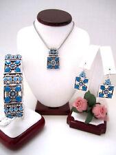 "Brighton ""NEPAL"" Necklace-Earring-Bracelet Set (MSR$202) NWT/Pouch"