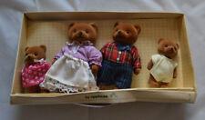 Vintage 1987 Applause Teddy Bear Story - Momma, Papa, Jonathan & Molly Figures