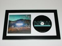 ARCADE FIRE BAND SIGNED 'EVERYTHING NOW' CD COVER w/COA WIN BUTLER BLUE FRAMED