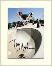 TONY HAWK SKATEBOARD LEGEND PP 8x10 MOUNTED SIGNED AUTOGRAPH PHOTO