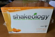 Shakeology Pumpkin Spice Vegan Limited Edition 14 Packets Exp 9/2020 BeachBody