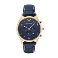 ** NEW **Emporio Armani® watch AR1862 - Mens , BETA , Blue Chronograph