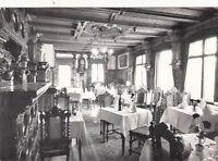 CPA SUISSE SCHWEIZ ST. MORITZ speisesaal des hotel chesa sur l'en timbre suisse