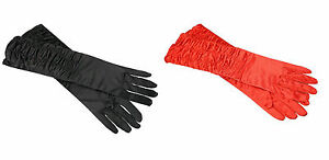 long Satin Gloves Fancy Dress 20's Prom Evening Xmas Party tiller flapper