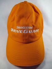 Bridgestone DriveGuard Orange Adjustable Baseball Cap Hat Great Condition