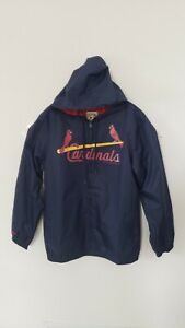 🔥🔥OFFICIAL ST LOUIS CARDINALS MLB MITCHELL NESS ZIP WINDBREAKER JACKET LARGE⚾⚾