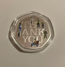 2020 Thank You Key Worker NHS Samoa Half Dollar 50p Like Coin Commemorative