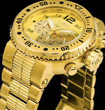 Invicta Men's 52mm Pro Diver Combat Seal Chronograph 18k Gold Plated 500MT Watch