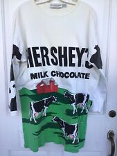 Vintage The Eagles Eye Brand Hershey's Milk Chocolate (with Cows) Shirt Size L.